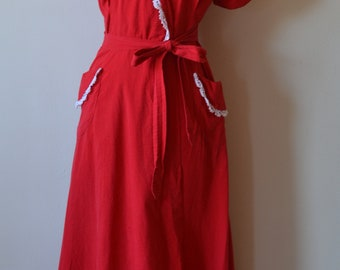 1940s/1950s Red House Robe Dressing Gown