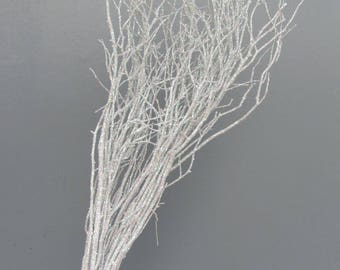 Wedding Branches, White Floral Branches, White Sparkle Sweet Huck Branches, Wedding Centerpiece Branches, Christmas Branches