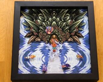 Chrono Trigger (SNES) Shadowbox - Lavos Battle