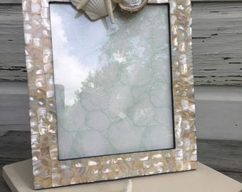 Mother of Pearl Seashell Frame/8x10 Frame/Wedding MOP Frame