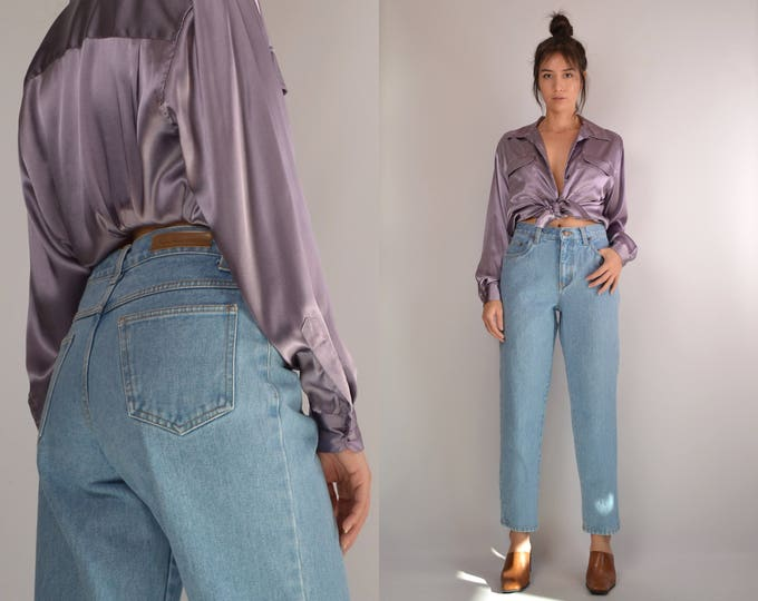 90's Baggy Tapered High Waist Jeans