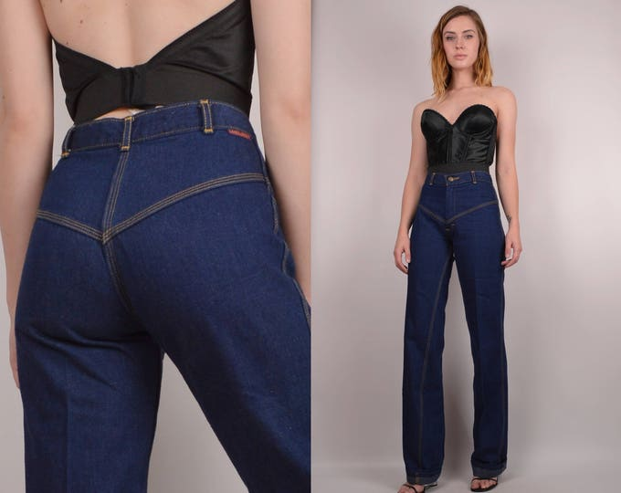 20% OFF  SALE Vintage 70's Flare Jeans w/ High Waist XS