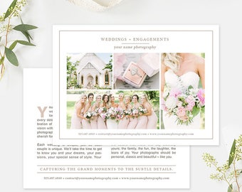 Wedding Photography Marketing, Photography Flyer Template, Photography Ad Template, Photography Forms, Photography Branding Organic Set