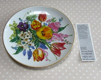 Osterbouquet - Easter Bouquet Collectable Plate 1987 Hutschenreuther Flowers Floral 7167b - David