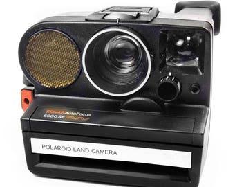 Polaroid Sonar Autofocus 5000SE Vintage 1980s Instant SX-70 Retro Film Camera