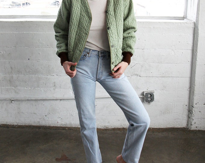 Cotton Quilted Jacket - sage