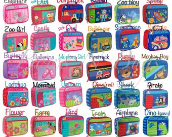 Monogrammed Stephen Joseph Classic Lunch Boxes / Children and Toddler Lunch Box / Personalized / Choose from 30 Patterns / Boys and Girls