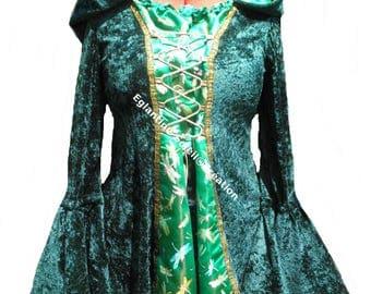 """""""Celtic Elf"""" tunic, velvet and Brocade"""