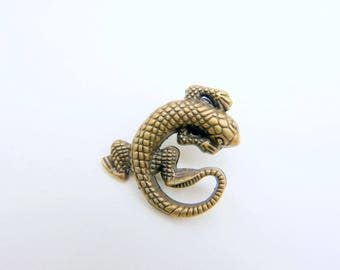lizard brooch pin