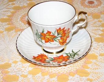Prairie Lily Royal Windsor Bone China Tea Cup and Saucer