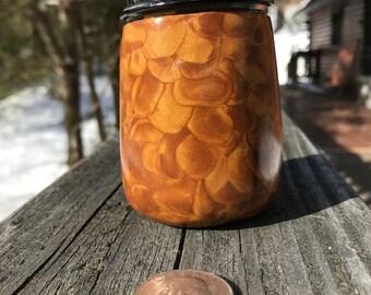 Rolled Gold Stash Jar