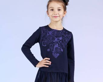 Dejavu - children's dress with tulle frill