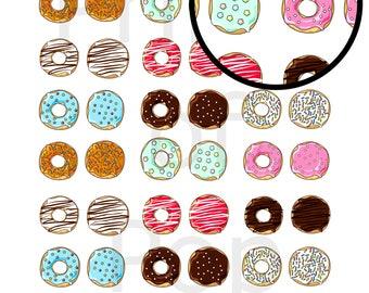 Donut, Doughnut Printable Icon Stickers, Daily Planner Stickers, Teacher Stickers, Scrapbook