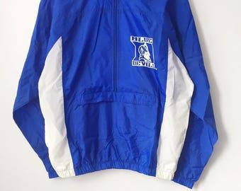 vintage duke blue devils apex one windbreaker jacket mens size medium deadstock NWT 90s