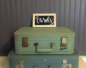 Vintage Lady Baltimore Starline Luggage Light Green Suitcase Wedding Decor