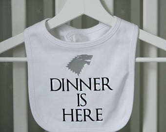 Game Of Thrones Style Dinner Is Here Bib