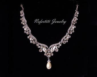 Bridal necklace etsy junglespirit Image collections