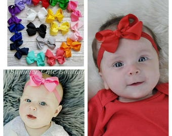 You Pick Bow Headband, Baby Headband, Bow Headband, Baby Headbands, Infant Headband, Newborn Headband, Infant Headbands, Baby Headband Bow