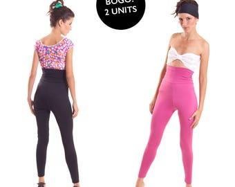 Yoga Pants Set of 2 Organic Bamboo Leggings Size Large Gym Wear FINAL SALE