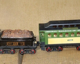 Rare Vintage Jim Beam Decanter Train - Set of 4 - Engine - Tender - Observation Car - Caboose - 2 Decanters with Boxes