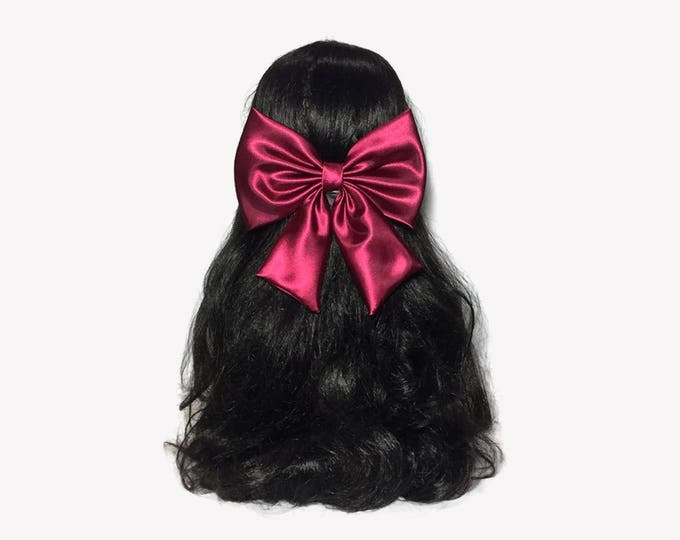 Featured listing image: Bows For Girls, Wine Bow, Satin Hair Bow, Big Bows For Girls, Satin Bows, Hair Bows For Girls, Flower Girls Bow, Pageant Hair Bow, Hair Bows