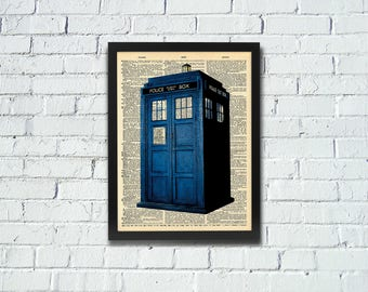 Doctor Who Tardis Dictionary Art