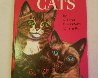The Big Book of Cats by Gladys Emerson Cook vintage 1954