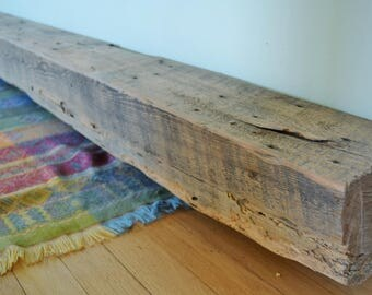 fireplace mantel beam. Reclaimed Wood Fireplace Mantel 86  x 7 5 Mantle Shelf Barn Beam mantel Etsy