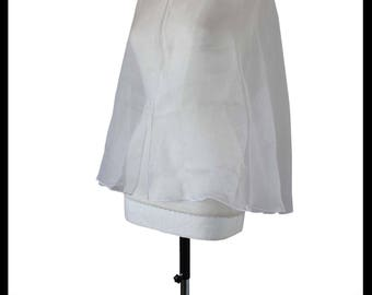 White Shimmer Organza Short Cloak/ Cape Slight 2nds. Ideal for LARP Medieval Gothic Alternative Ice Queen SALE!