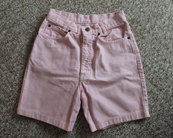 Vintage 80's Guess Pink High Waisted Denim Jean Shorts