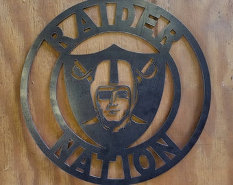 Raider Nation Steel Sign