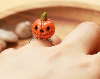Pumpkin Ring , Halloween pumpkin ring , halloween ring, halloween jewelry, food jewelry