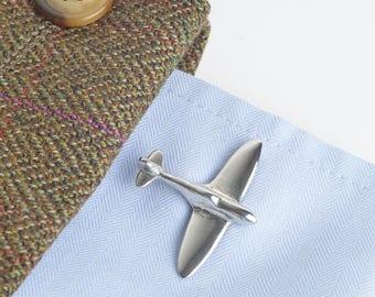 Spitfire Cuff Links UK made Spitfire gifts for men