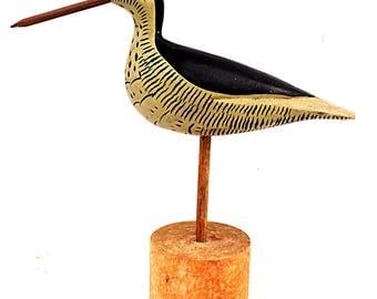 Wooden Decoy Shorebird Stickup Beach Bird Rustic Nautical Decor