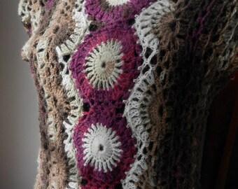 crochet dress crochet tunic tank vest top FREE SHIPPING