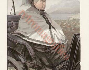 Queen Victoria vintage image digital download for art print, scrapbooking, mixed media, altered art,