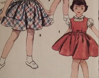Vintage Simplicity 4407 Sewing Pattern Size 2 Jumper and Blouse