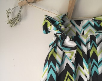 Size 12-24 months Girls Funky Zig Zag Tie Up Sundress