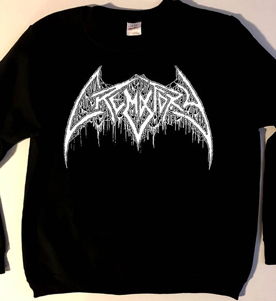 37a56651bc7443 crematory logo sweatshirt swedish death metal fleece old school crewneck  for fans of.