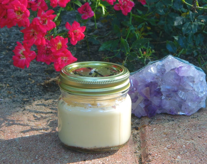 LOADED Ritual Jar Candle, Prayer candle - Fixed, Dressed. Any Intent - 100% Hand-crafted with soy wax, herbs and oils