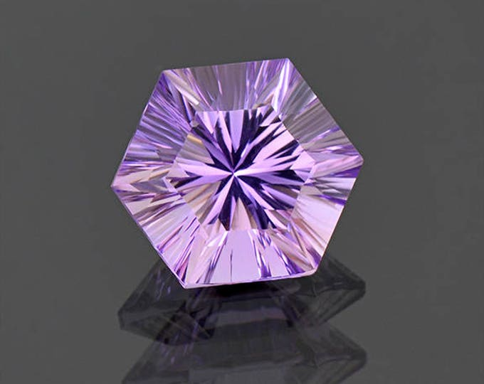 Fantastic Concave Cut Bright Purple Amethyst Gemstone from Bolivia 8.52 cts.