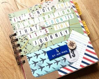 Travel scrapbook, Travel Mini book, Pre Made Scrapbook, Handmade Scrapbook, Adventure Scrapbook, photo album, scrapbook, vacation scrapbook