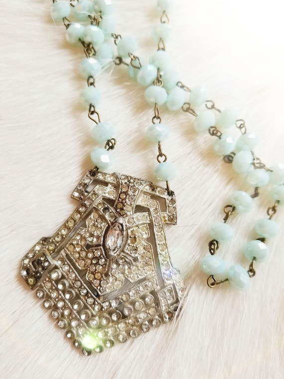 Vintage Re-purposed Rhinestone Necklace