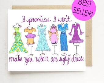 Will You be my Bridesmaid Cards, Will You be my Maid Of Honor card, Bridesmaid Proposal Card, Bridesmaid Cards, Bridal Party Cards