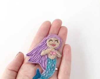 Felt Mermaid magnet pin jewelry gift bestselling items  home decor mermaid gifts scales gifts friend gift for her mermaid theme decoration