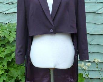 Womens UK 20 , US 16 Upcycled purple tailcoat joker cosplay