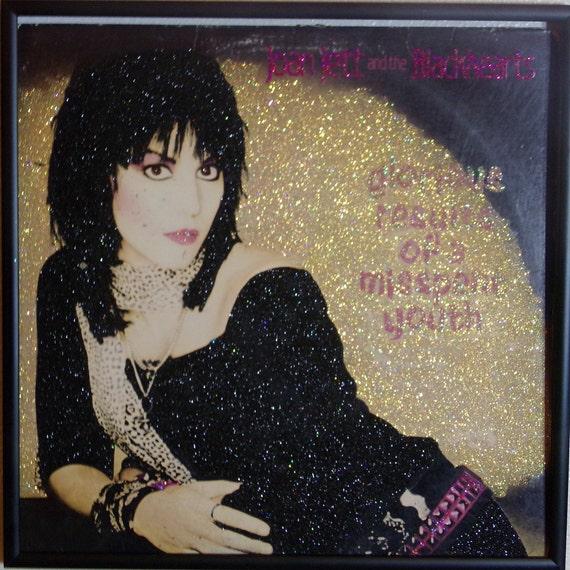 Glittered Record Album - glorious results of a misspent youth - Joan Jett and the Blackhearts