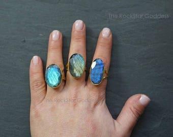 Halloween SALE // Labradorite Ring  // Labradorite Gold // Labradorite // Gold Labradorite Ring // Labradorite Jewelry //  Labradorite