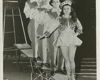 Ringling circus acrobats on stage antique photo