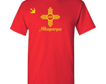 Albuquerque City Flag T Shirt - Red